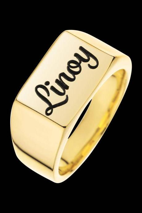 Personalized Ring - Custom Ring - Engraved Ring - Personalized Jewelry - Personalized Gift - Personalized Letter Ring - Gold Name Ring - Personalized Name Ring