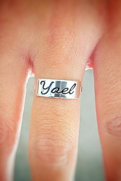 Personalized Ring - Custom Ring - Engraved Ring - Personalized Jewelry - Personalized Gift - Personalized Name Ring - Sterling Silver Name Ring - Sterling Silver Ring