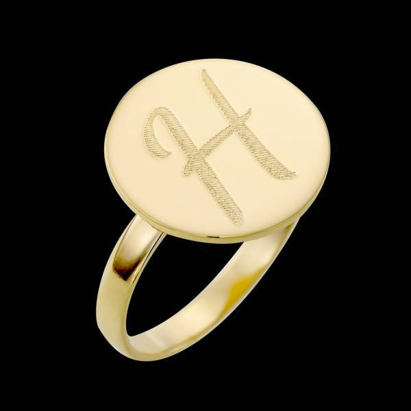 Personalized Ring - Custom Ring - Engraved Ring - Personalized Jewelry - Personalized Gift - Personalized Letter Ring - Gold Letter Ring - Gold Filled Ring