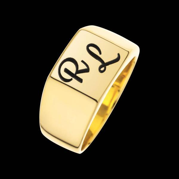 Personalized Ring - Custom Ring - Engraved Ring - Personalized Jewelry - Personalized Gift - Personalized Letter Ring - Gold Initials Ring - Gold Filled Ring